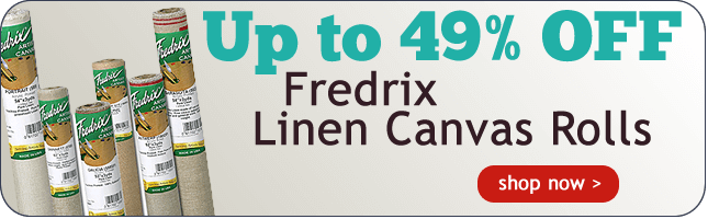 Up to 49% Off Fredrix Linen Canvas Rolls