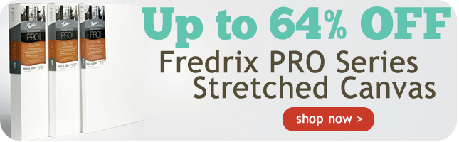 Up to 62% OFF Fredrix PRO Series Stretched Canvas